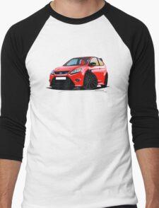 Ford Focus RS (Mk2) Red [Black Wheels] Men's Baseball ¾ T-Shirt