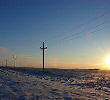 Rural Manitoba in December by Geoffrey