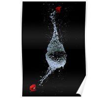 Bursting water balloon Poster