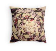 Textural cabbage Throw Pillow