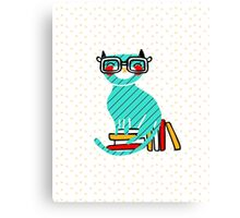 Smart Kitty Canvas Print