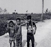 Cambodian Children by Allison Lane