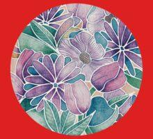 Blossoming - lilac, mint & aqua One Piece - Short Sleeve