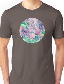 Blossoming - lilac, mint & aqua Unisex T-Shirt