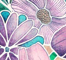 Blossoming - lilac, mint & aqua Sticker