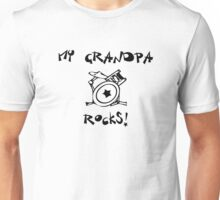 My Grandpa Rocks! Drums Unisex T-Shirt