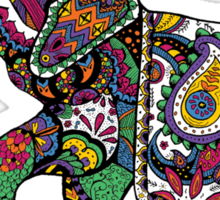 Elephant Zentangle Sticker