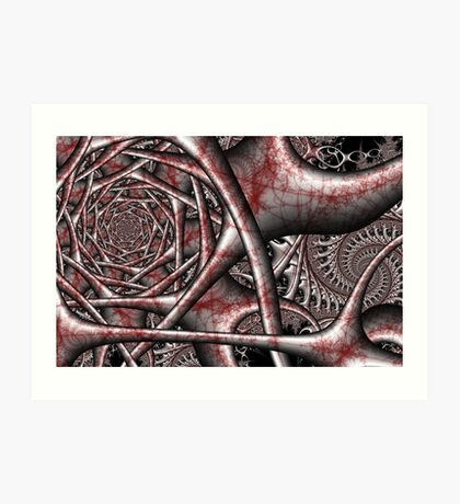 Arterial Steel Synapse Art Print