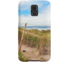 mesh wire fence at the maharees Samsung Galaxy Case/Skin
