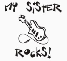 My Sister Rocks! Guitar Kids Clothes