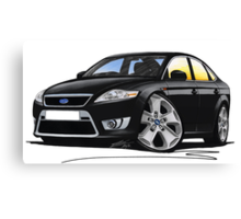 Ford Mondeo (Mk4) X Sport Black Canvas Print
