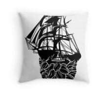 Beard Ship Throw Pillow