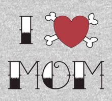 I (Love) Heart Mom Tattoo Kids Clothes