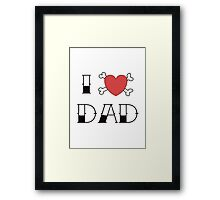 I (Love) Heart Dad Tattoo Framed Print