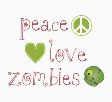 Peace Love and Zombies Kids Clothes