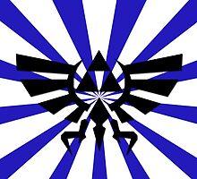 Zelda Triforce-Dark Blue Laptop Skin, Mug, Travel Mug and Pillow by TomsTops