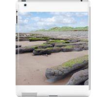 mud banks and big dunes at Beal beach iPad Case/Skin
