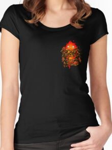 Pocket Calcifer Women's Fitted Scoop T-Shirt