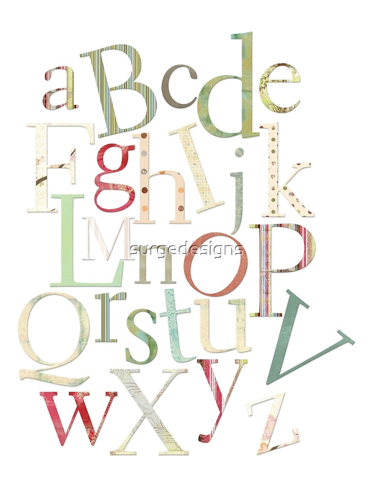 Vintage Alphabet Letters by surgedesigns