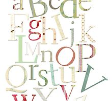 Vintage Alphabet Letters by surgedesigns