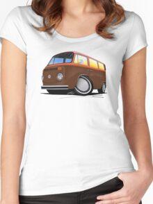 VW Bay Window Camper Van (F) Women's Fitted Scoop T-Shirt
