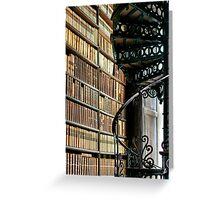 Trinity Library Dublin Ireland Greeting Card