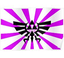 Zelda Triforce-Purple Laptop Skin, Mug, Travel Mug and Pillows Poster