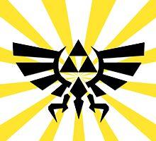 Zelda Triforce-Yellow Laptop Skin, Mug, Travel Mug and Pillows by TomsTops
