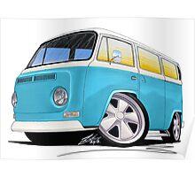 VW Bay Window Camper Van (E) Poster