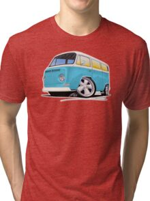VW Bay Window Camper Van (E) Tri-blend T-Shirt