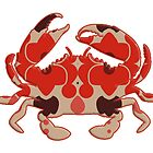 Crab - retro silhouette by surgedesigns