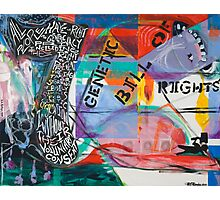 The Genetic Bill of Rights Painting Series Photographic Print