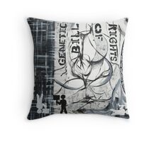 The Genetic Bill of Rights Painting Series Throw Pillow
