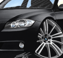 BMW 3-series (E90) Black Sticker
