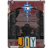 Nativity Scene Christmas Holiday License Plate Art iPad Case/Skin