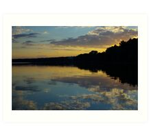 Sunset on the Naroch lake Art Print
