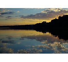 Sunset on the Naroch lake Photographic Print