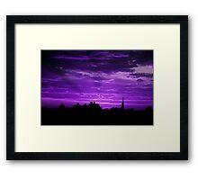 Purple Rays Framed Print