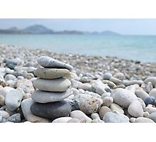 Stack of  pebble Photographic Print