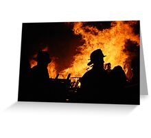 Fire Silouette Greeting Card
