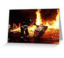 Assisting the Fire Greeting Card