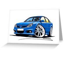 Vauxhall Vectra VXR Blue Greeting Card