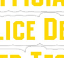 Official Police Dept Taser Tester Sticker