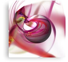 Abstract Red Globe Canvas Print