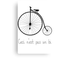 Dyke in bike Canvas Print