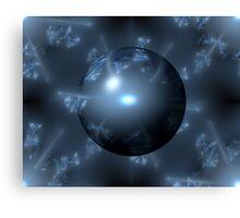 Abstract Blue Globe Canvas Print