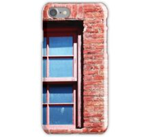 Red Brick Window iPhone Case/Skin