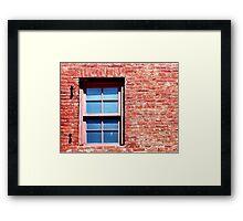 Red Brick Window Framed Print