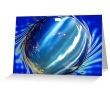 Big Blue Spinning Ball Greeting Card