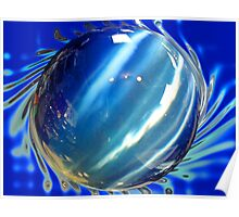 Big Blue Spinning Ball Poster